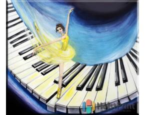 Картина пианино