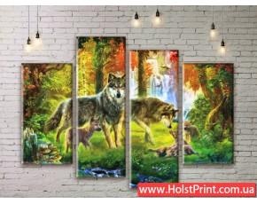Модульные картины, животные, ART. ANIM777015