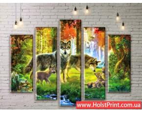 Модульные картины, животные, ART. ANIM777017