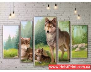 Модульные картины, животные, ART. ANIM777029