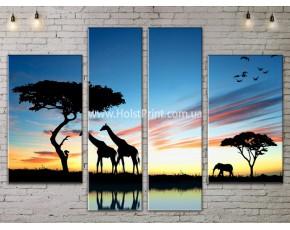 Модульные картины, Пейзажи природы, ART. NATA777177