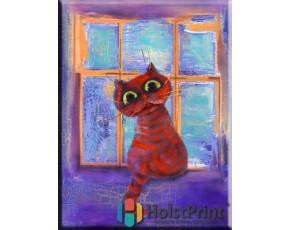"""Картины в десткую, """"Кот на окне"""""""