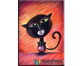 """Картина """"Черный кот"""""""