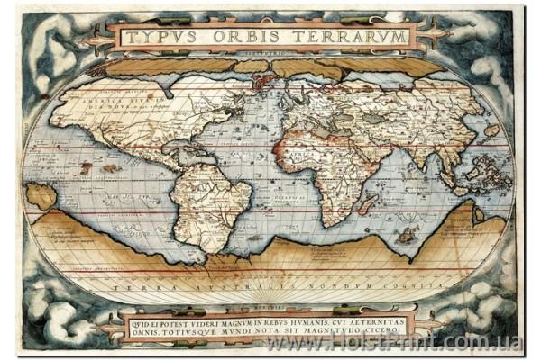Древние карты, репродукции картин, ART: KLA888004