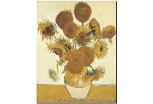 Подсолнухи, Ван Гог, печать на холсте, ART: KLA888010