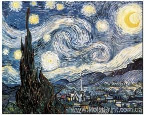 Ван Гог, звездная ночь, репродукции картины, ART: KLA888018