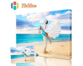 Печать фото на холсте 20 х 50 см