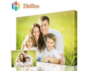 Печать фото на холсте 20 х 60 см