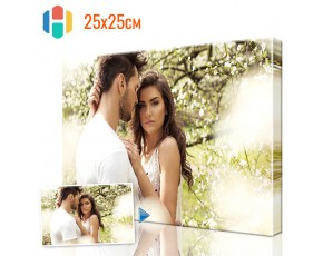Печать фото на холсте 25 х 25 см