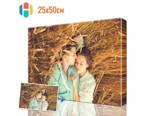 Печать фото на холсте 25 х 50 см