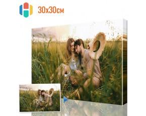Печать фото на холсте 30 х 30 см