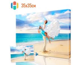 Печать фото на холсте 35 х 35 см
