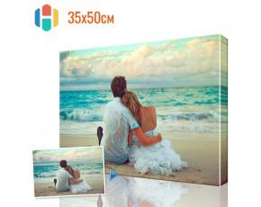 Печать фото на холсте 35 х 50 см